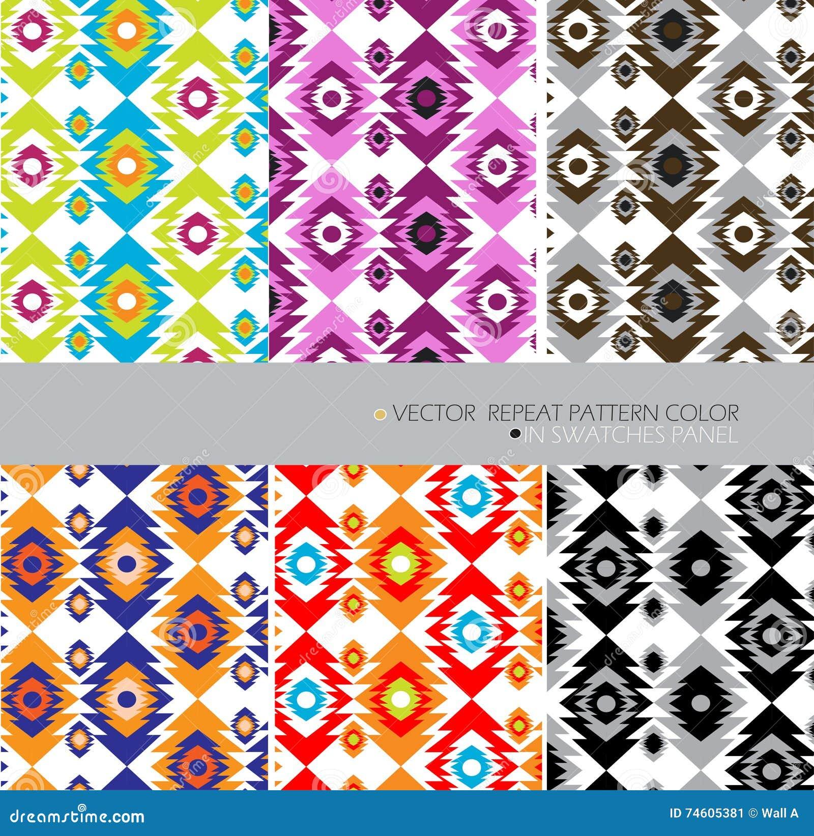 Fondo Abstracto étnico Del Sistema De Color Del Modelo De La