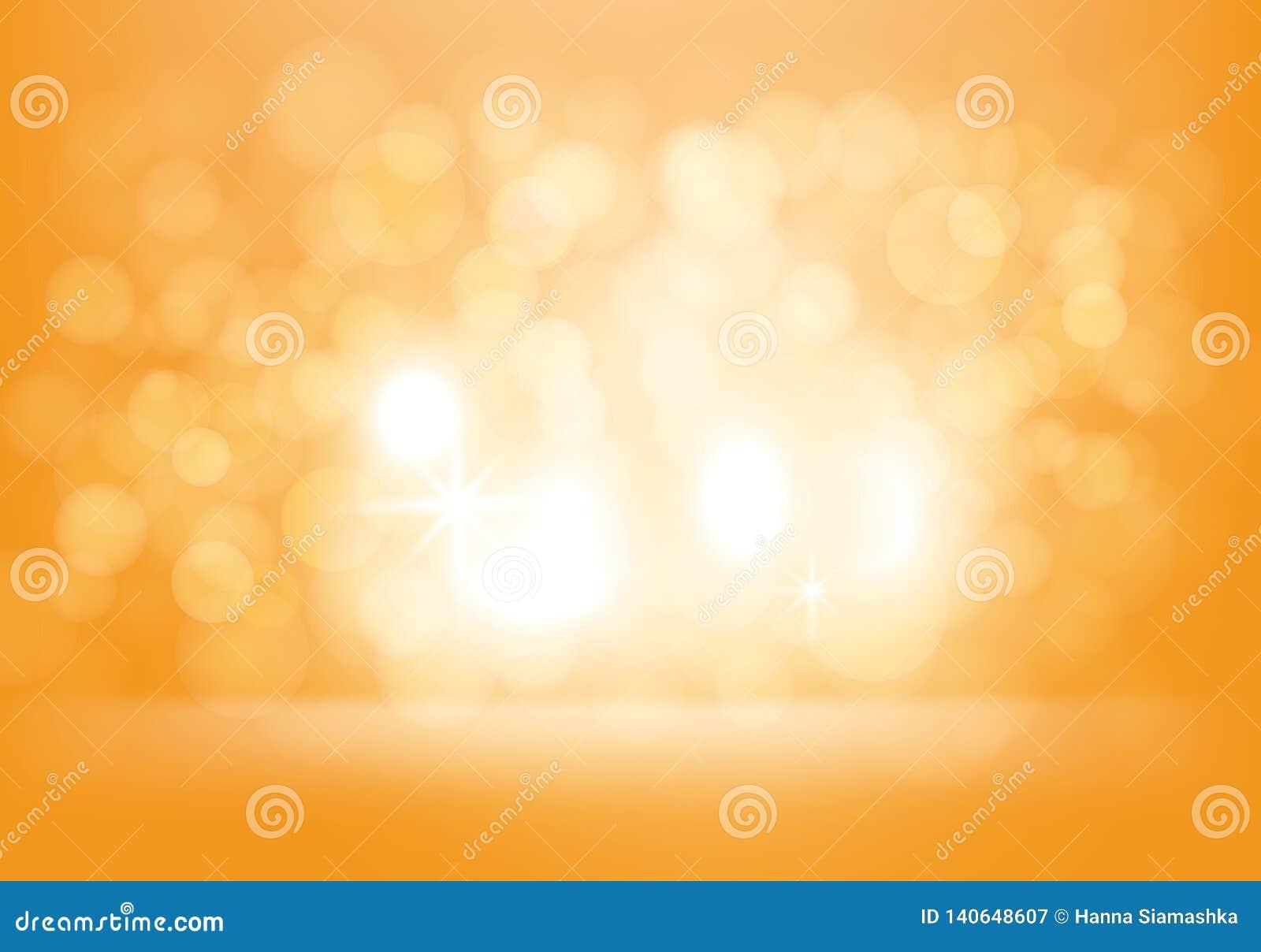 Fondo abstracto amarillo del vector con los flashes