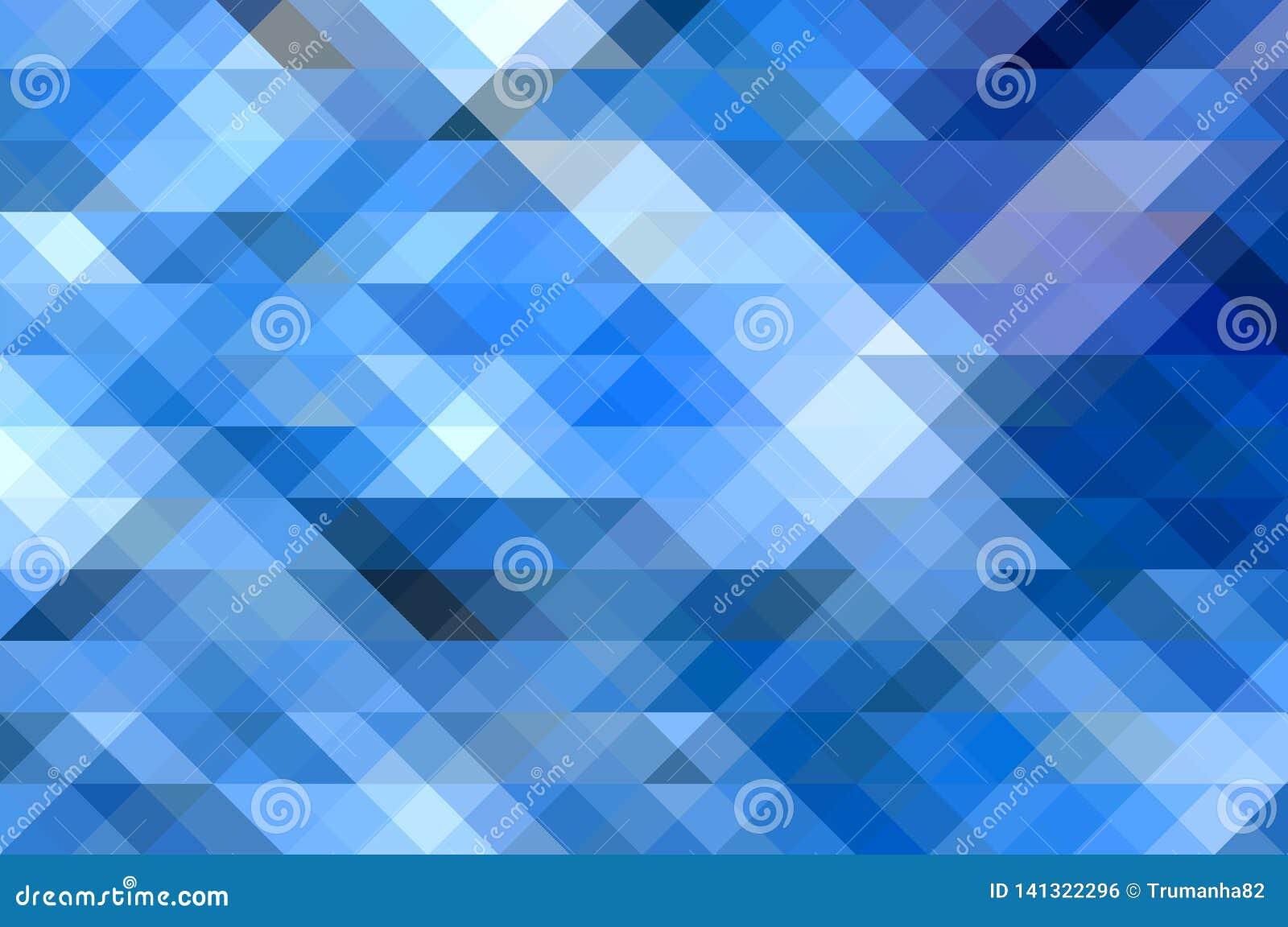 Fondo abstracto azul con efecto del mosaico