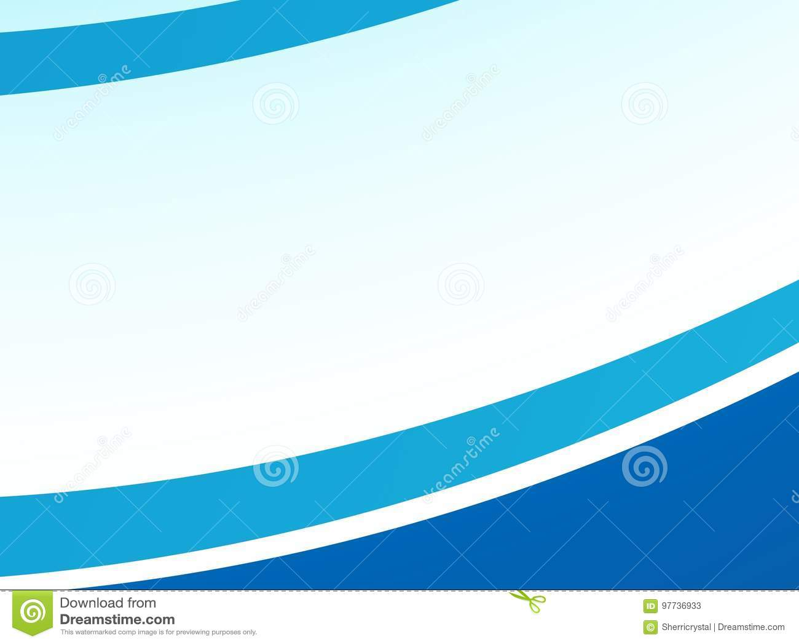 Bordes Azules Abstractos