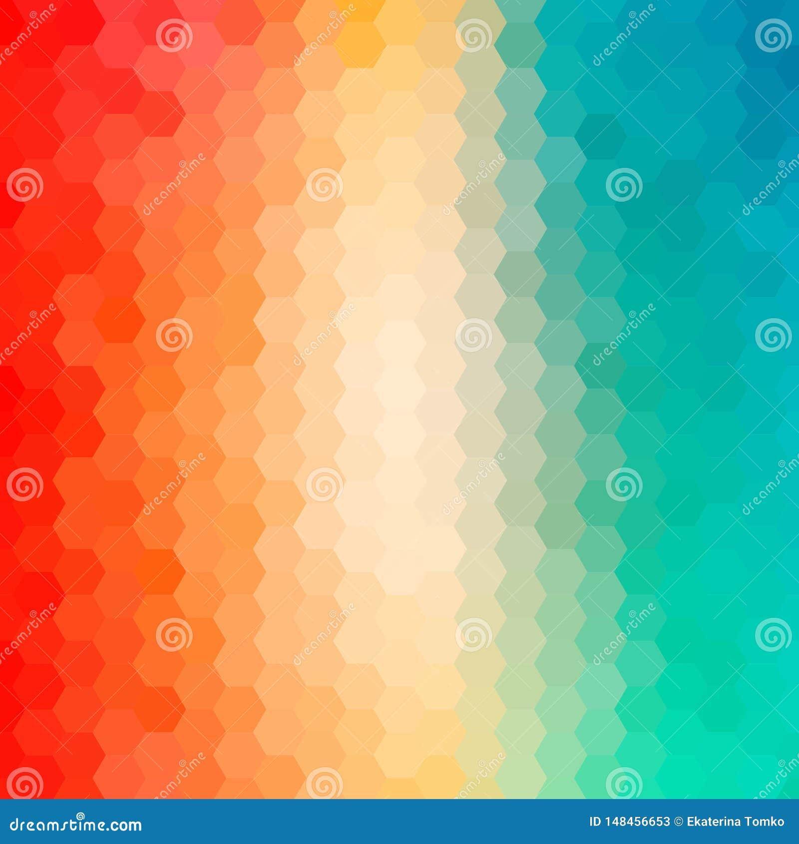 Fondo abstracto brillantemente coloreado Ilustraci?n del vector EPS 10