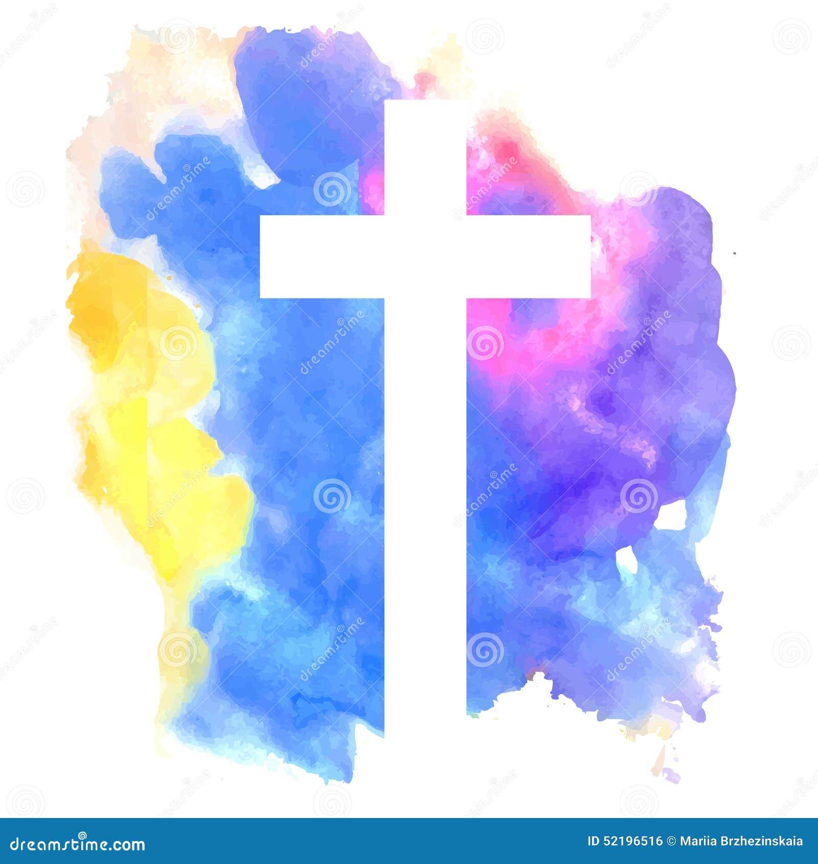 Fondo abstracto colorido con la cruz