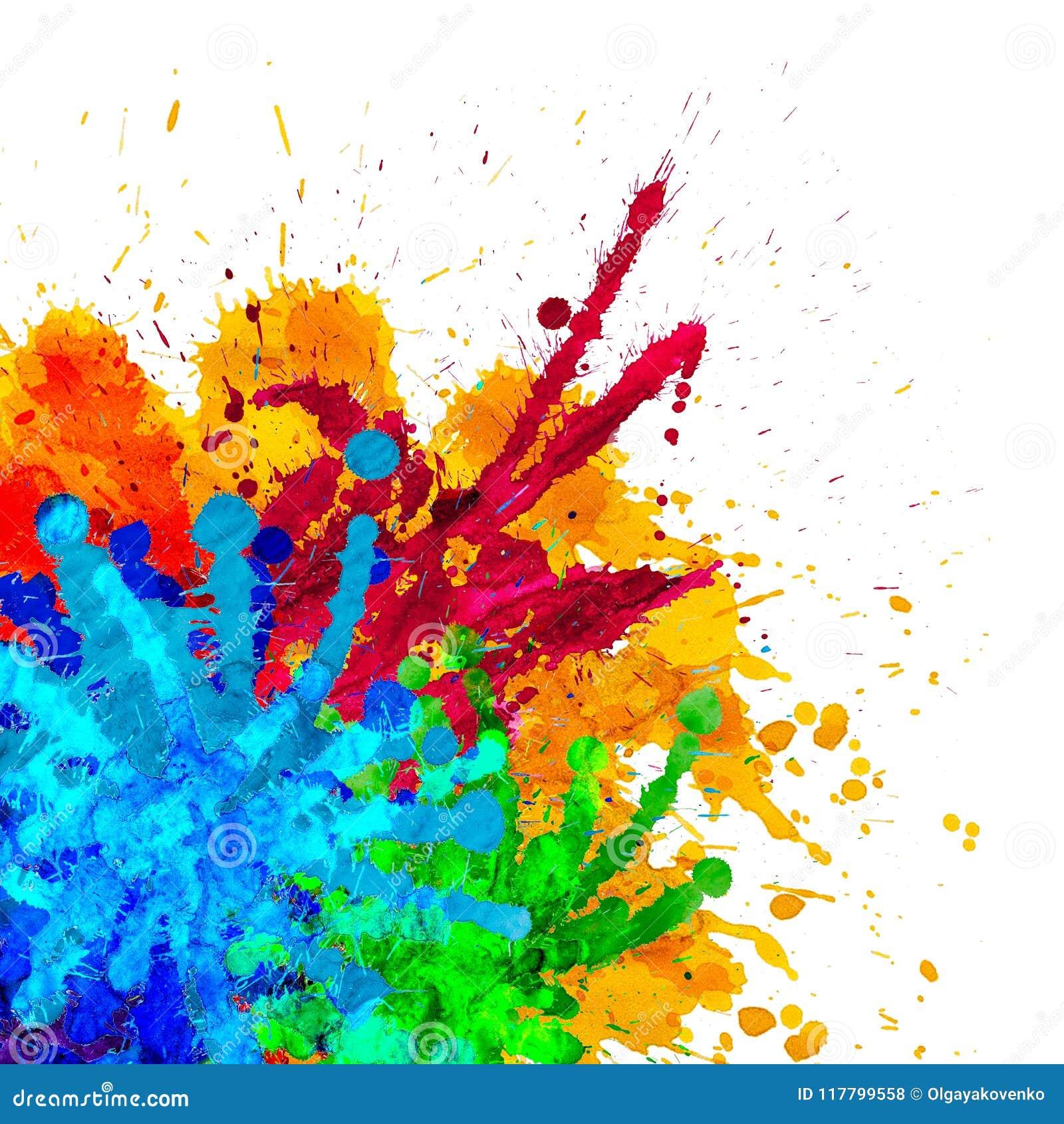 fondo abstracto colorido de holi pintura gráfica stock de