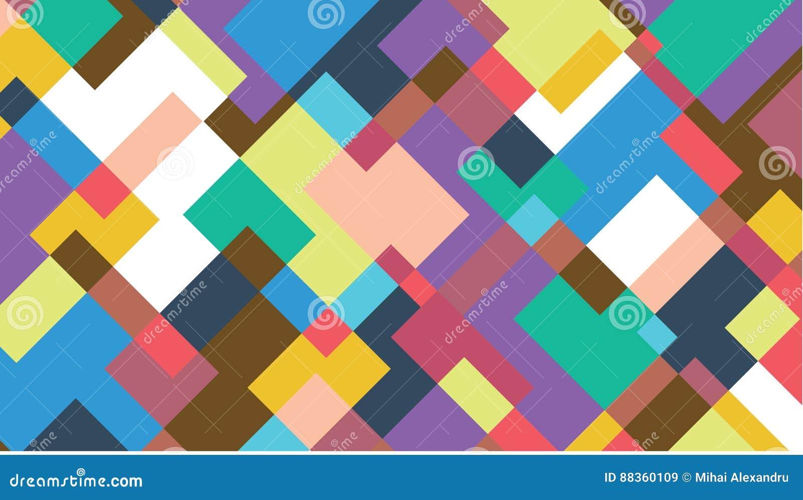 Fondo Abstracto Con Formas Geomtricas Coloridas Vector Gratis