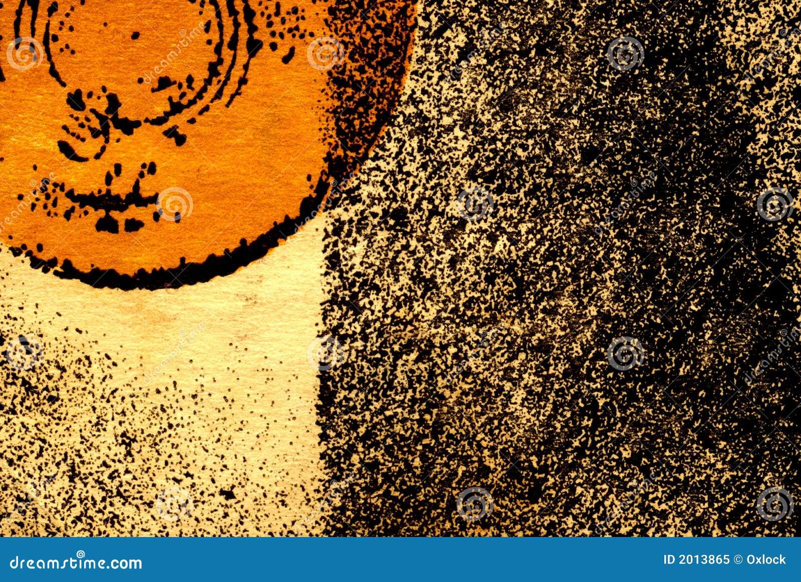 Fondo abstracto con el círculo anaranjado parcial