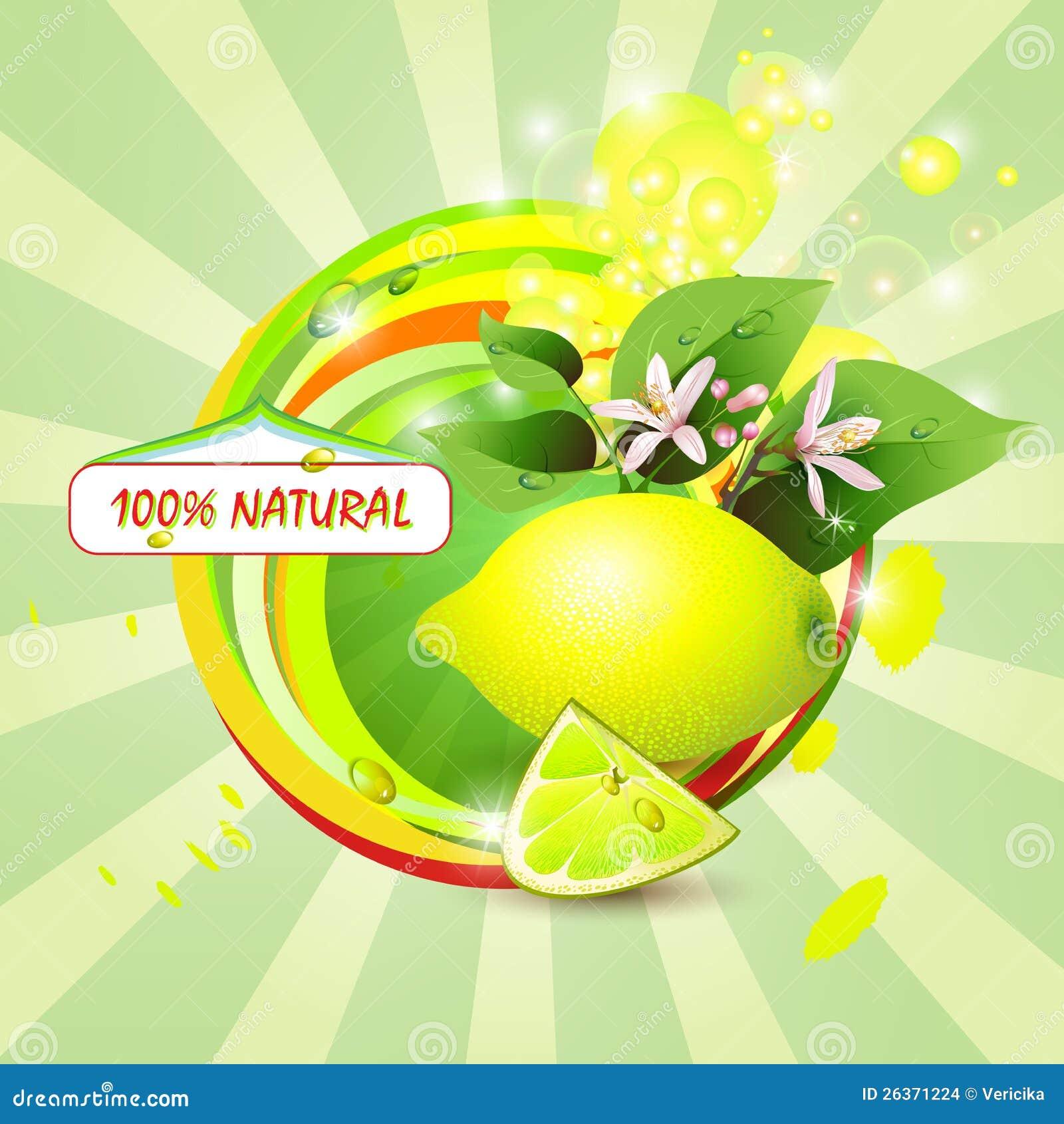 Fondo abstracto con el limón fresco