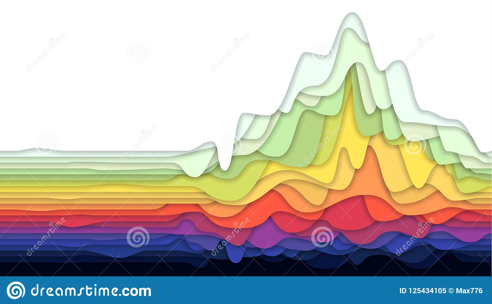 Fondo abstracto con el papel acodado colorido, ejemplo del vector