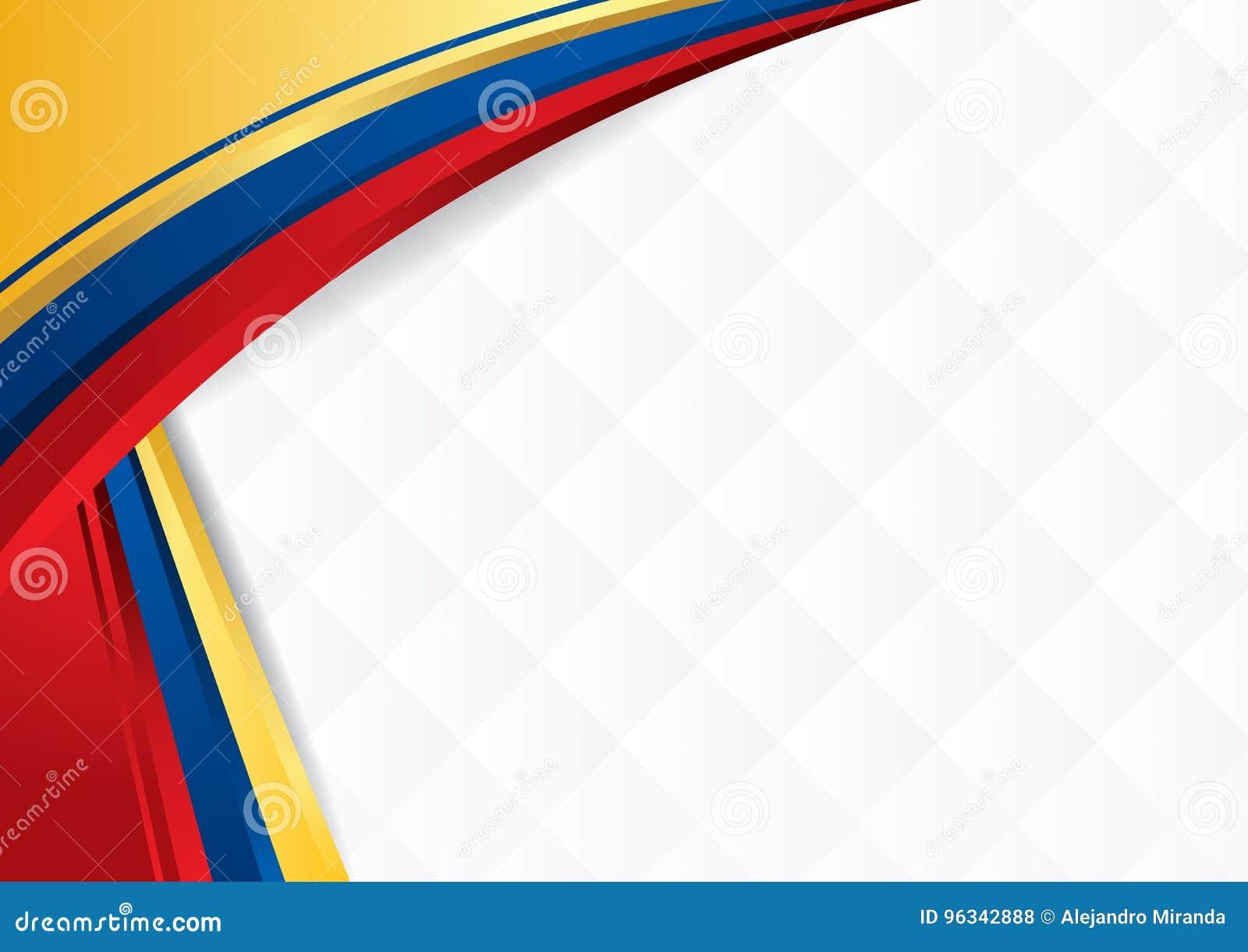 fondo abstracto con formas con los colores de la bandera