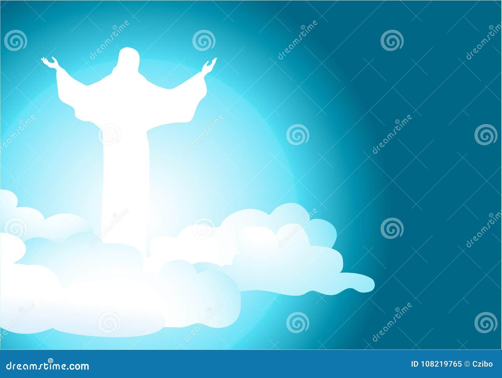 Fondo Abstracto Con Jesus Christ Resucitado Ilustración del Vector ...