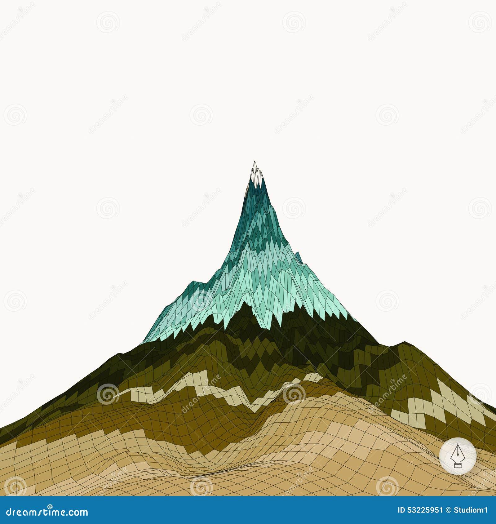 Fondo abstracto con la montaña mosaico