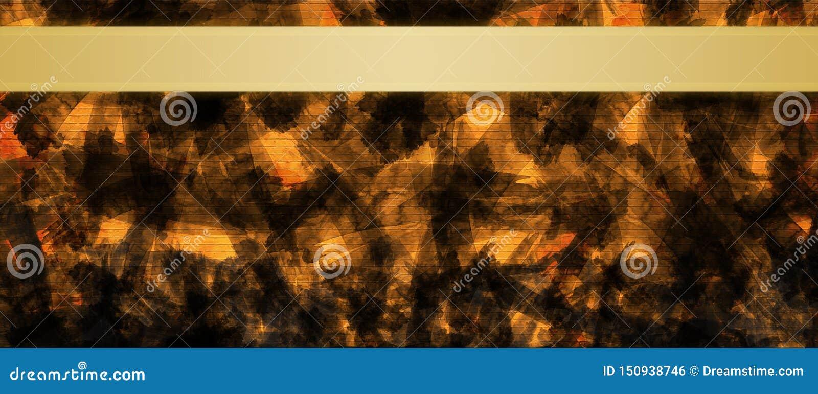Fondo abstracto con la plantilla del diseño del título de las rayas de la cinta del oro