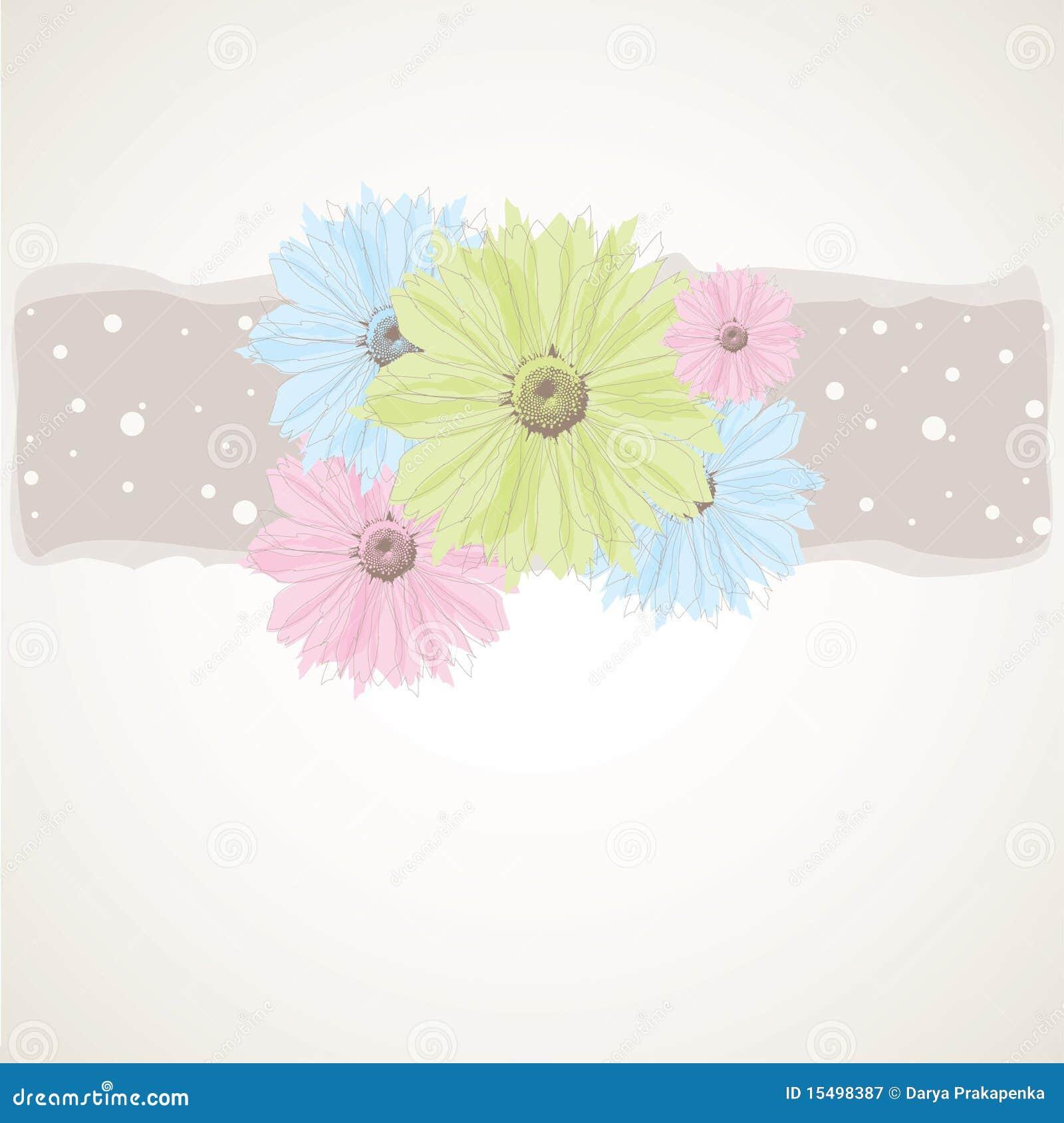 Fondo Abstracto Con Las Flores En Colores Pastel Ilustración Del