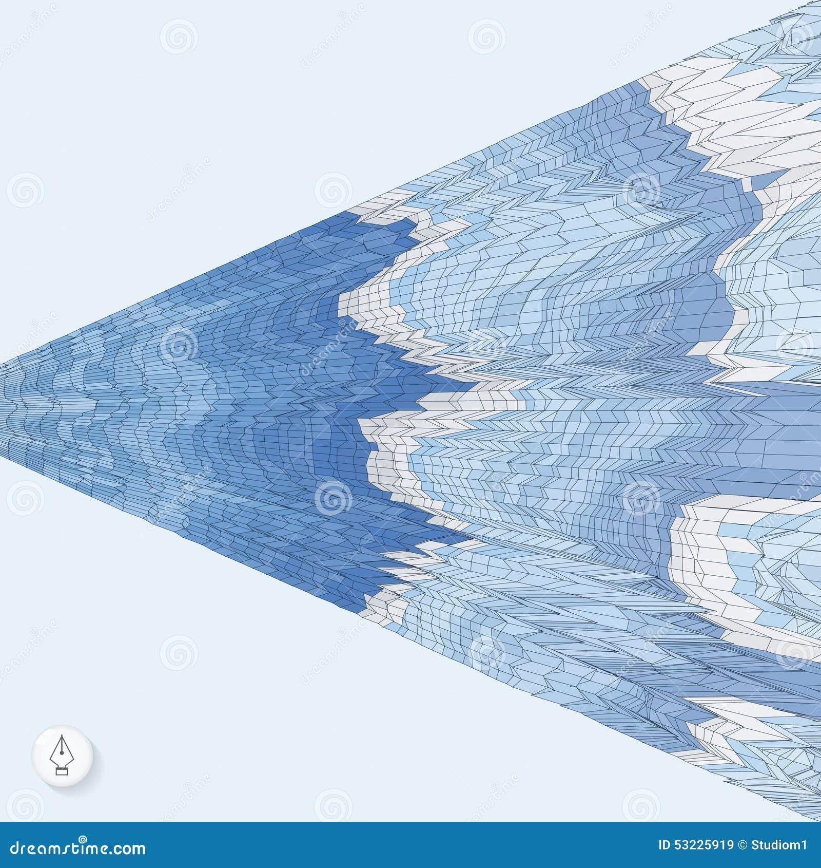 Fondo abstracto con las ondas mosaico vector 3d