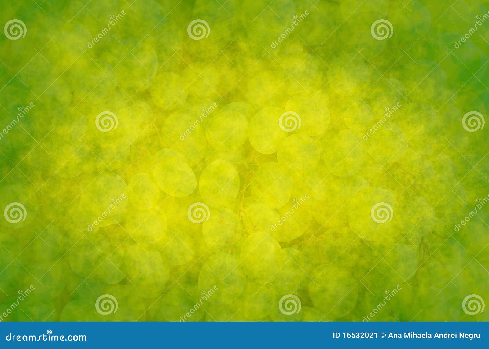 Fondo abstracto con las uvas verdes