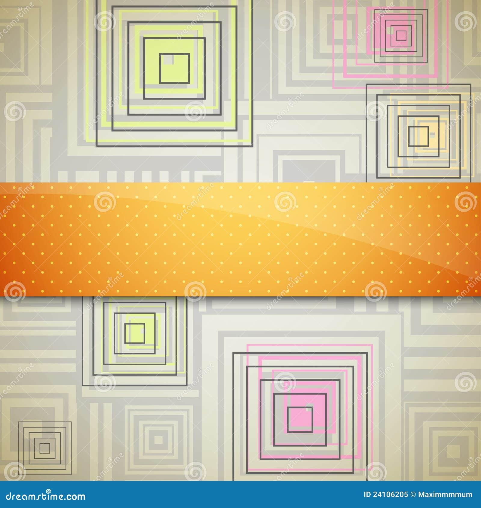 Fondo abstracto con los cuadrados