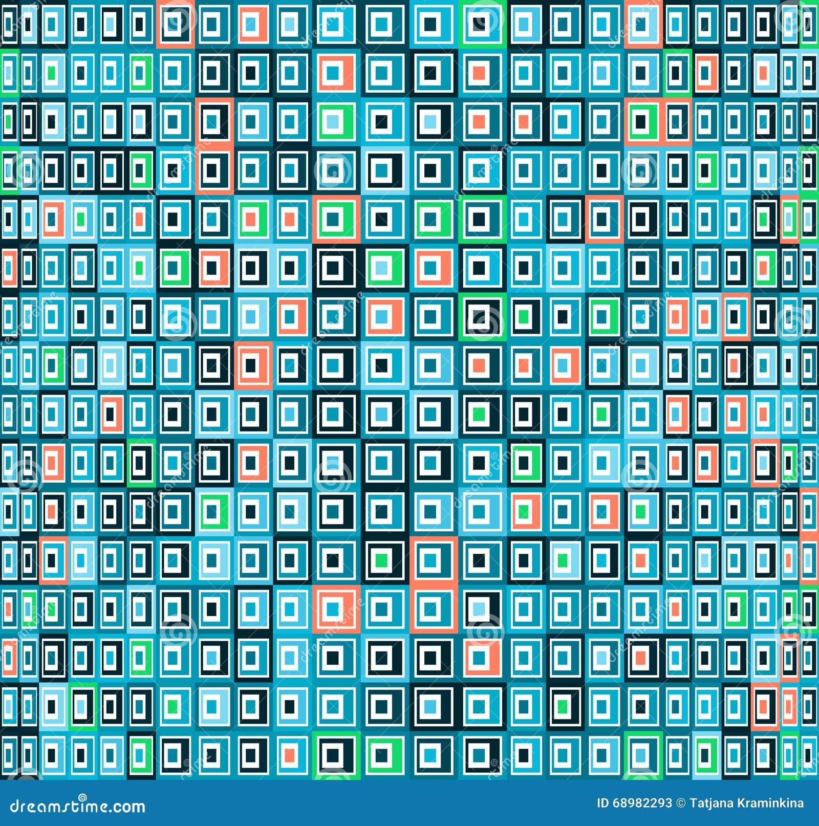 Fondo abstracto con los cuadrados coloreados Textura del vector