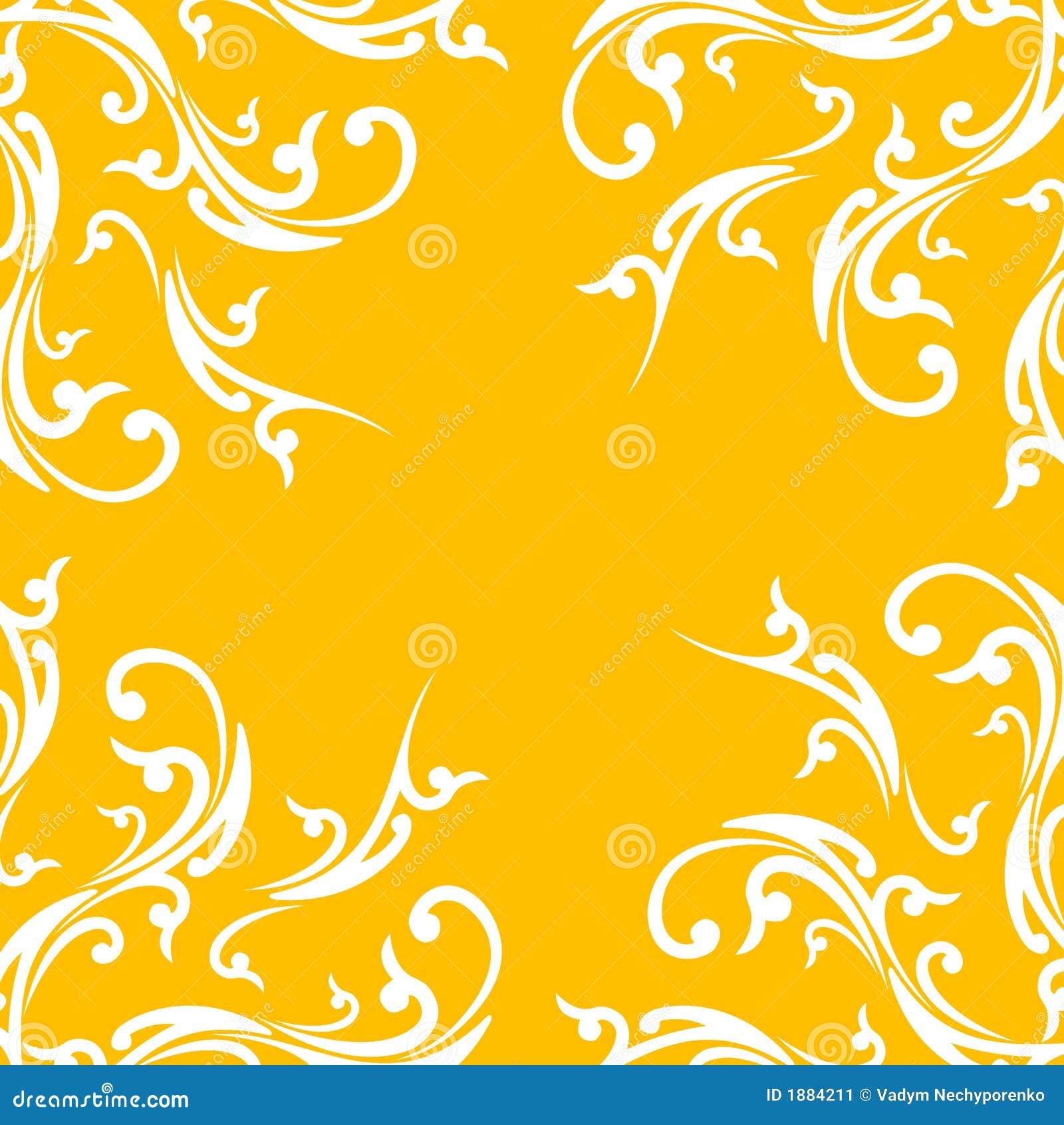 Fondo abstracto creativo con el elemento floral en color anaranjado