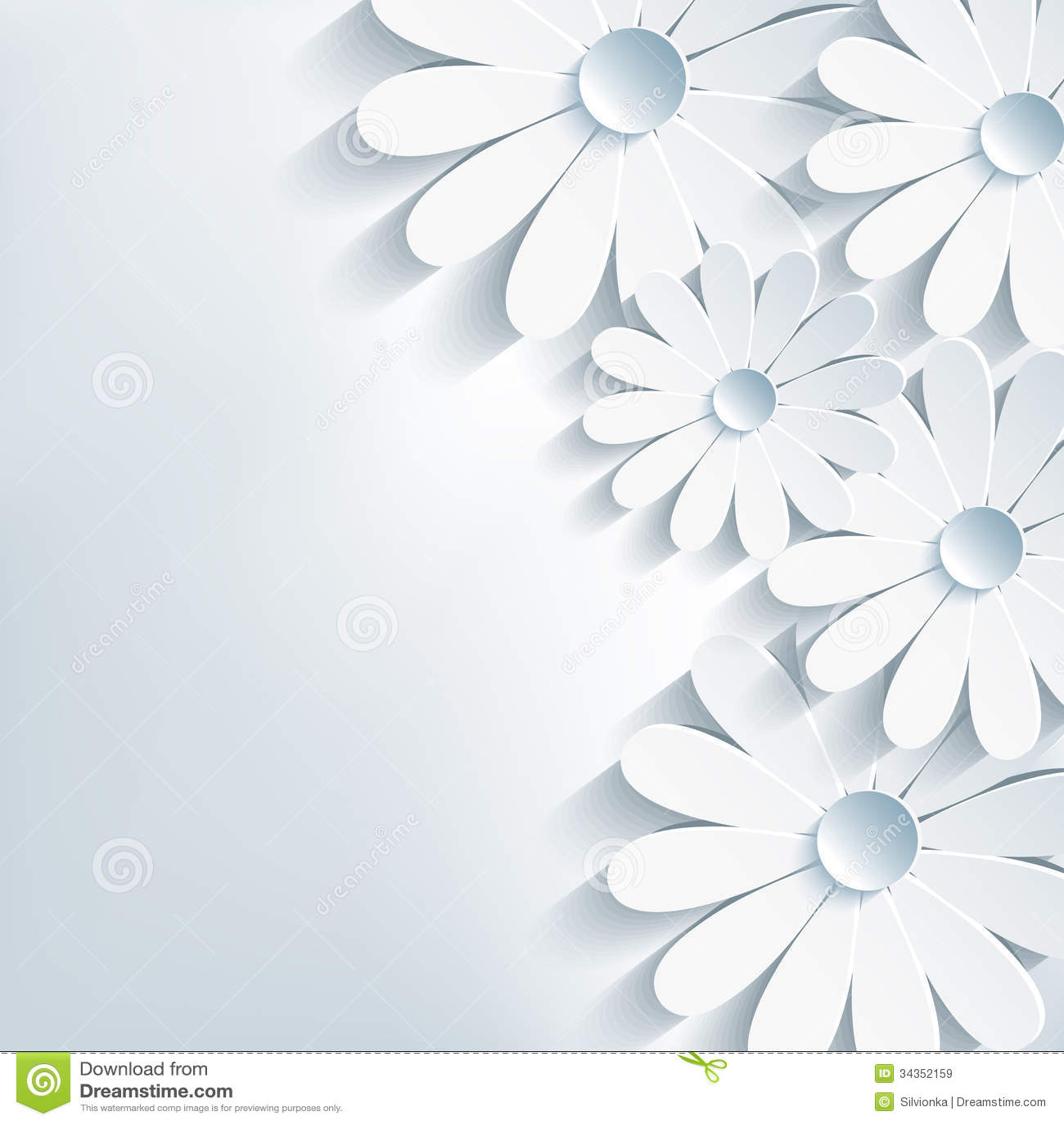 Fondo abstracto creativo elegante, 3d flor ch