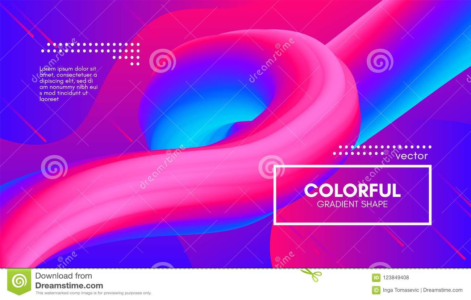 Fondo abstracto 3d Forma colorida del líquido de la onda