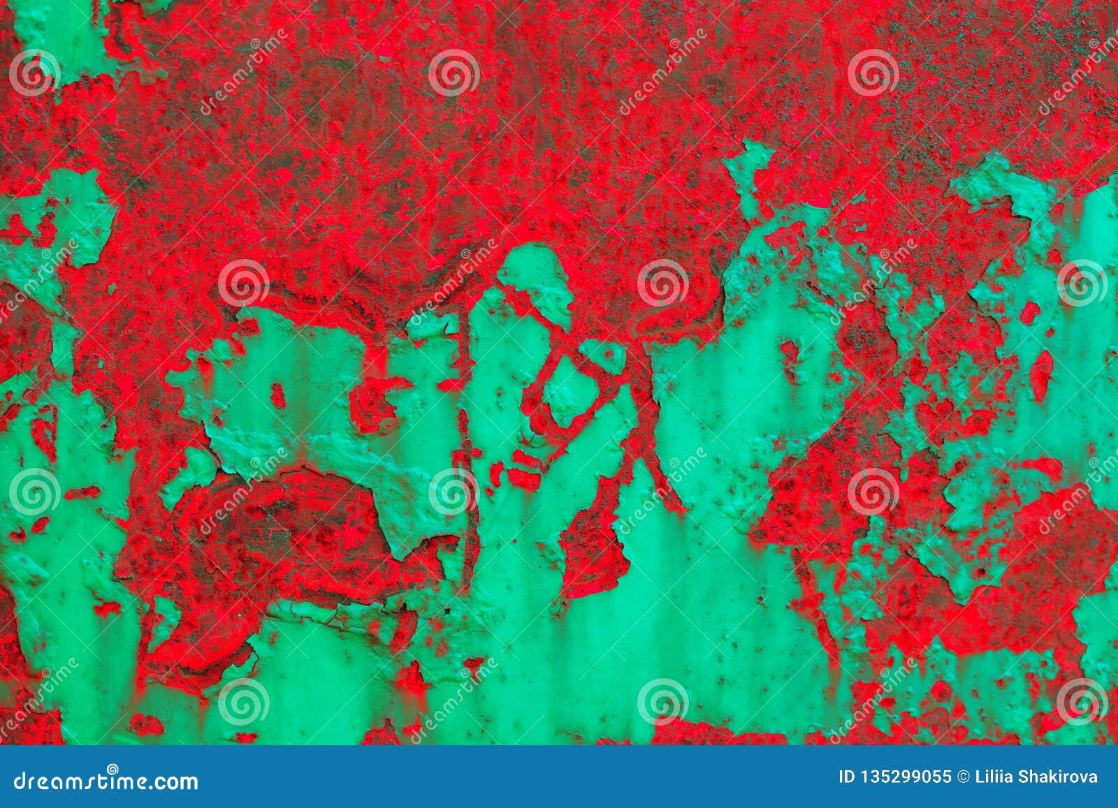 Fondo abstracto de Grunge Textura rojo-y-verde detallada