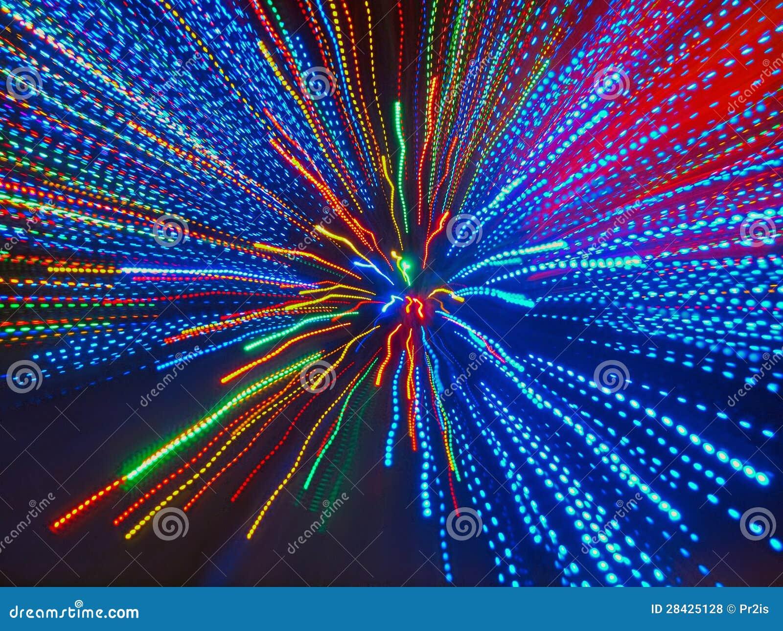 Fondo abstracto de haces convergentes coloridos