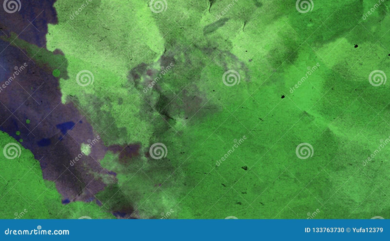 Fondo abstracto de la acuarela de AR Textura brillante azulverde Diseñe para los fondos, los papeles pintados, las cubiertas y em