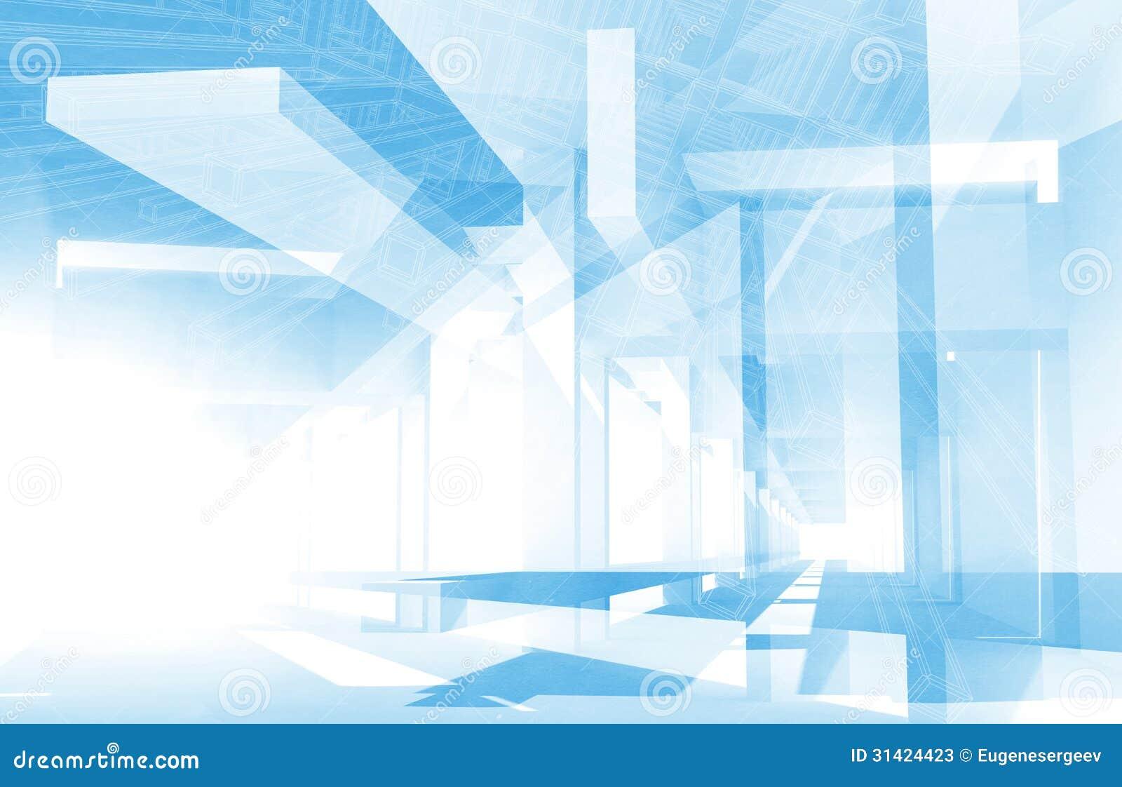 Fondo Abstracto De La Arquitectura 3d Stock de ilustración ...