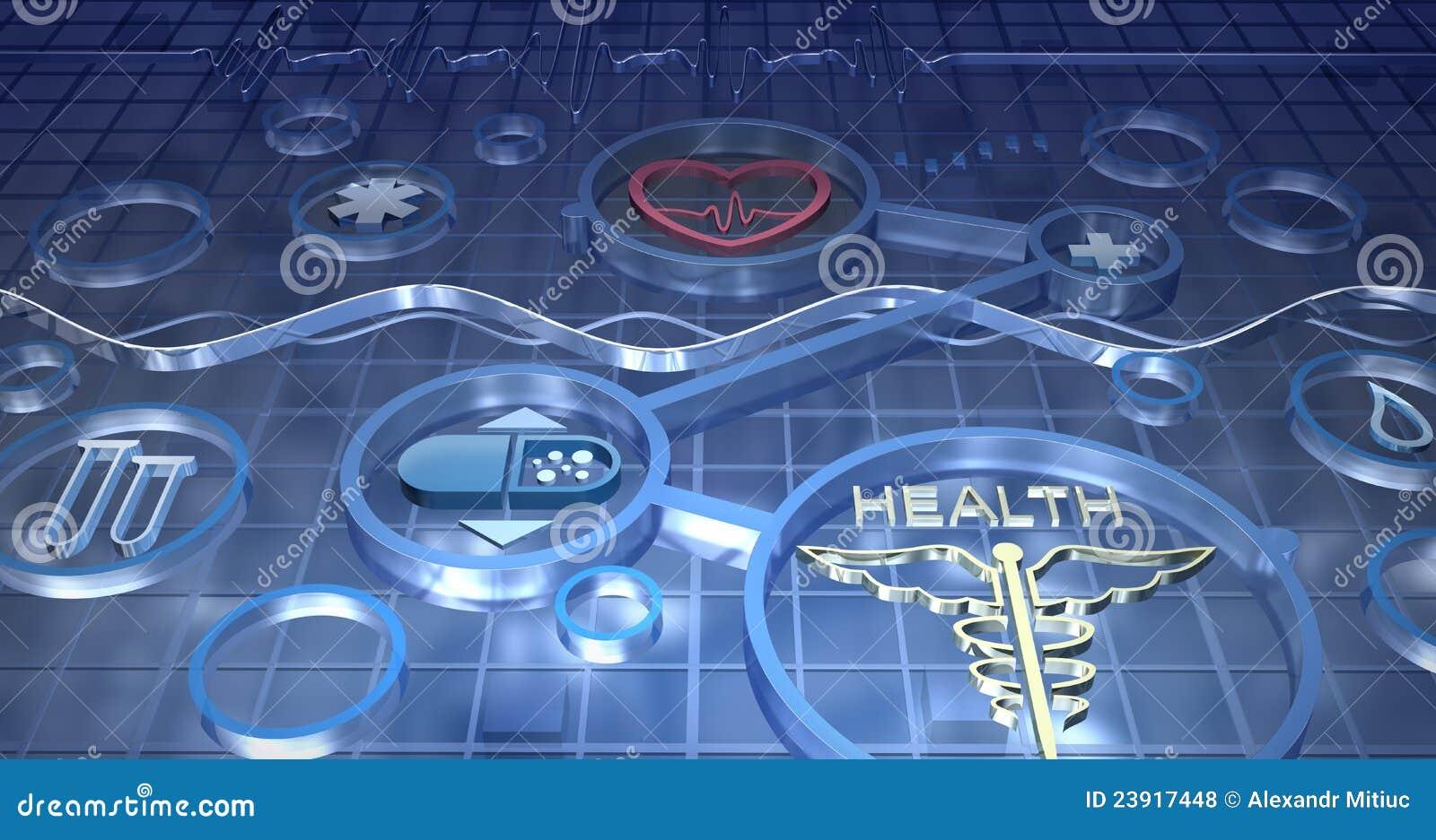 Fondo Abstracto De La Medicina Stock De Ilustración