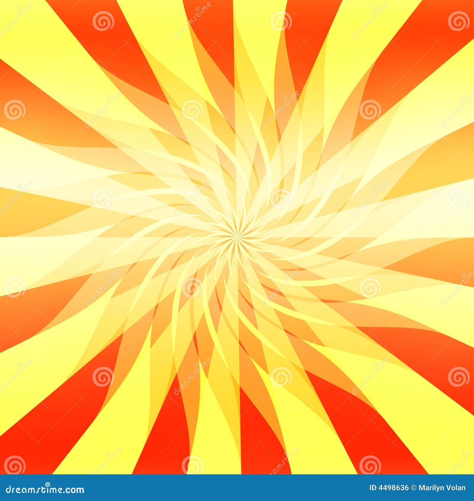 Fondo abstracto de la sol