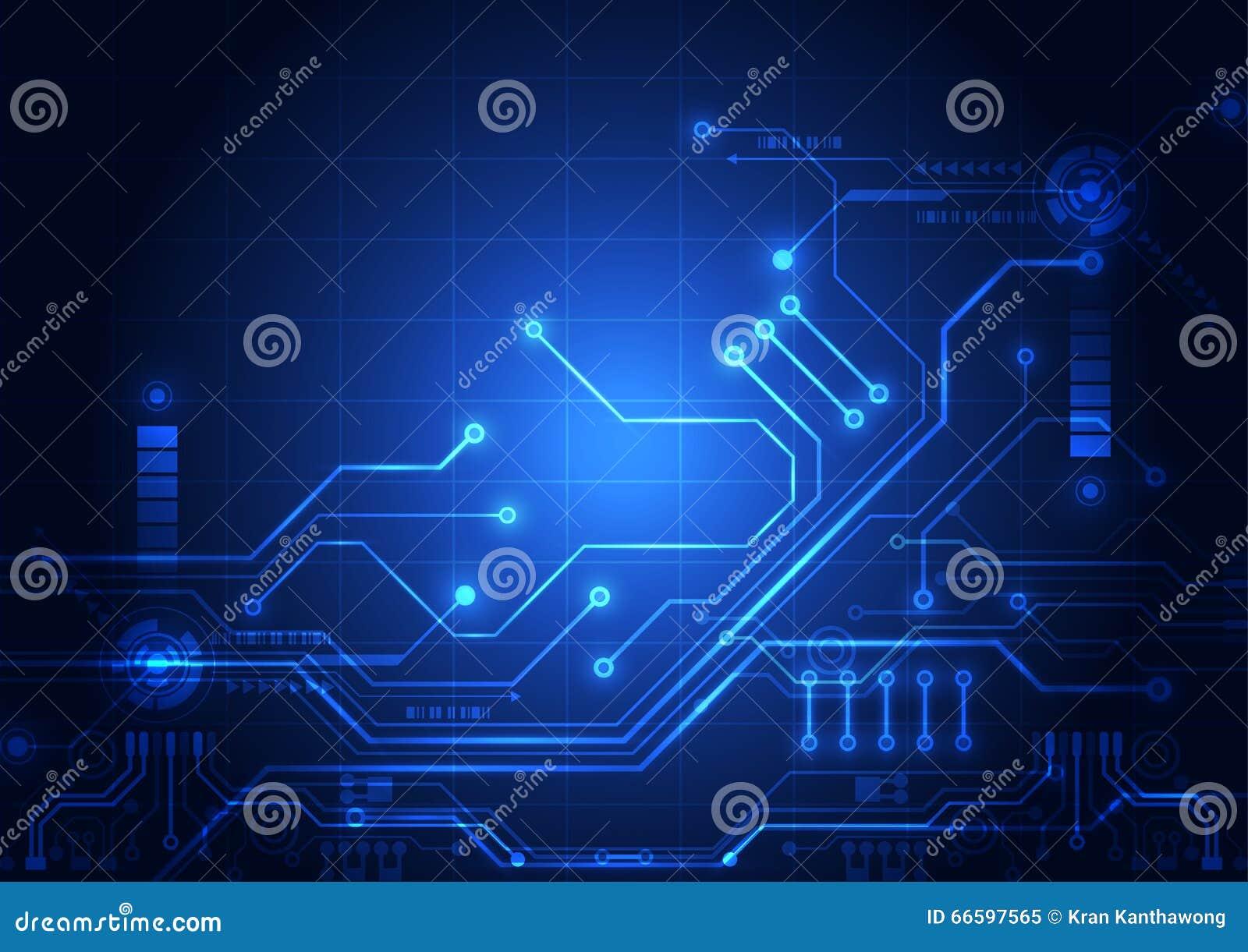 Fondo abstracto de la tecnología de circuito digital vector del ejemplo