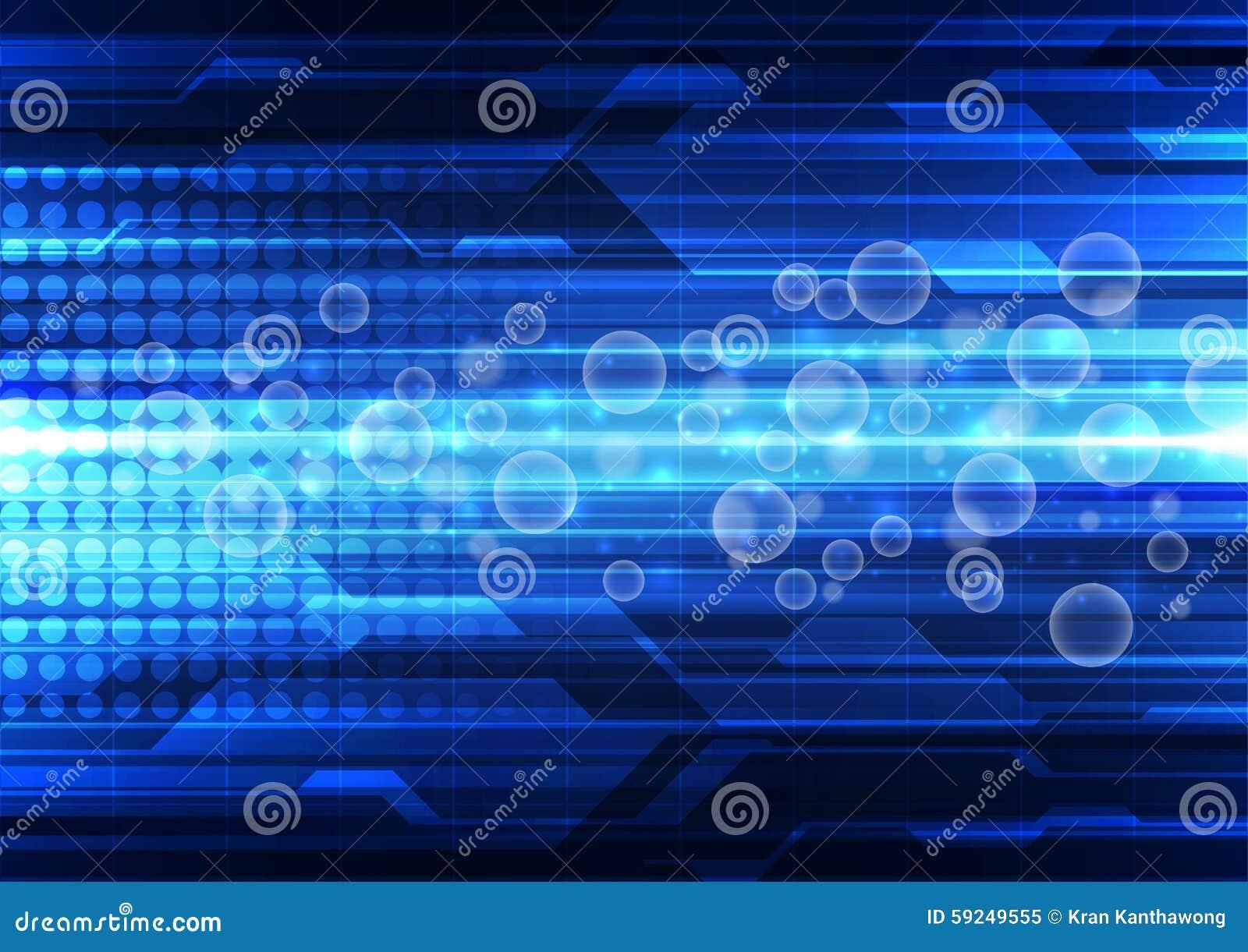 Fondo abstracto de la tecnología del vector, ejemplo