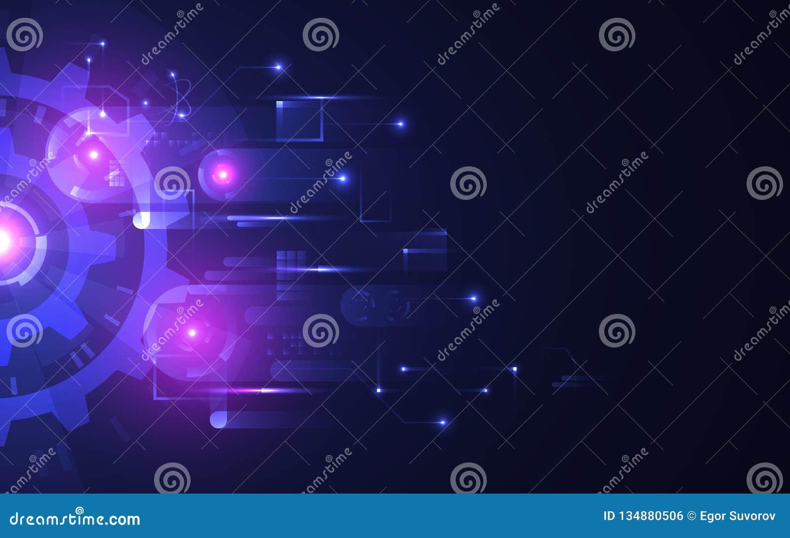 Fondo abstracto de la tecnología E r