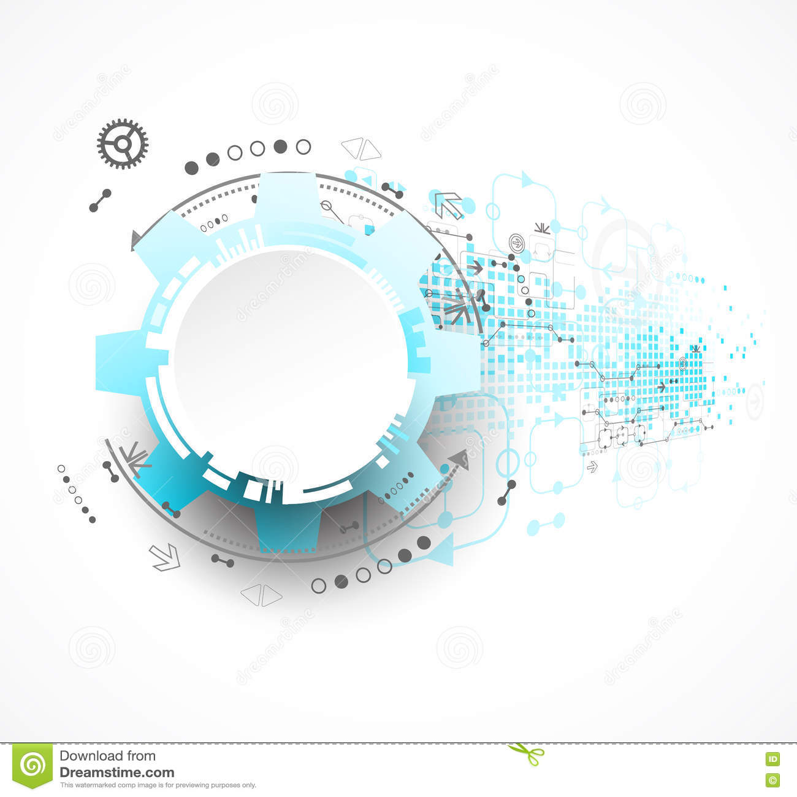 Fondo abstracto de la tecnología Tema de las ruedas dentadas