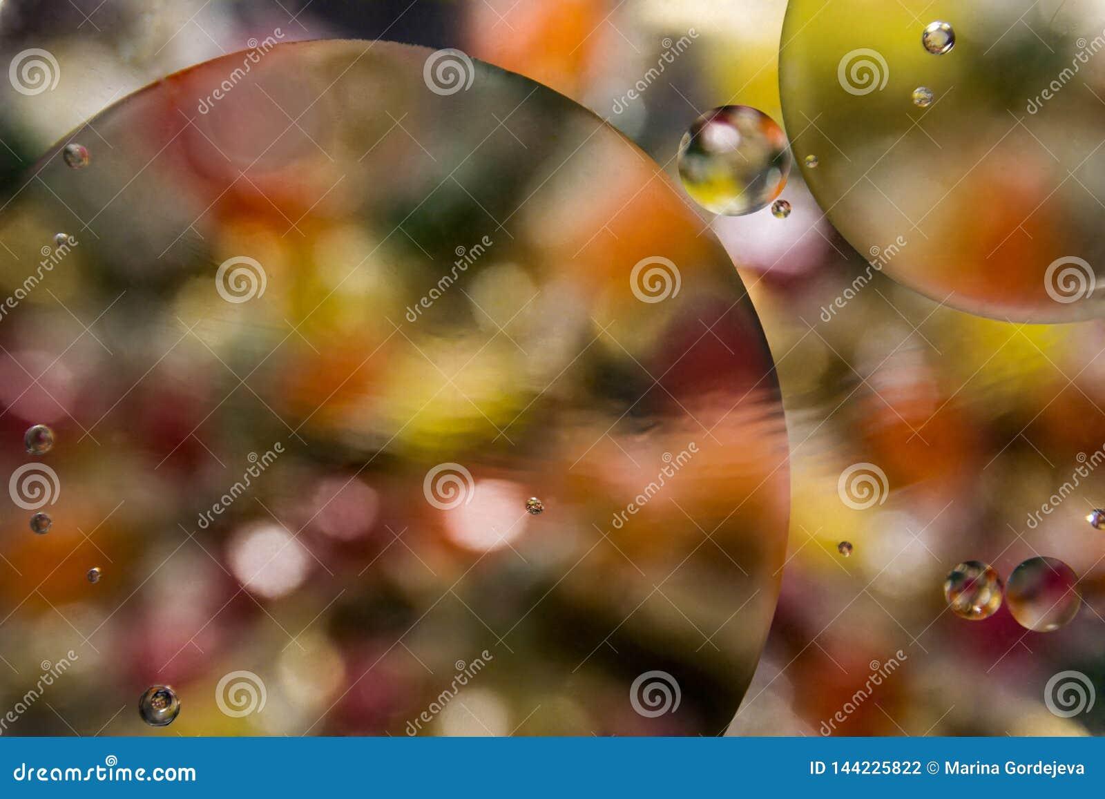 Fondo abstracto de las burbujas del color hermoso