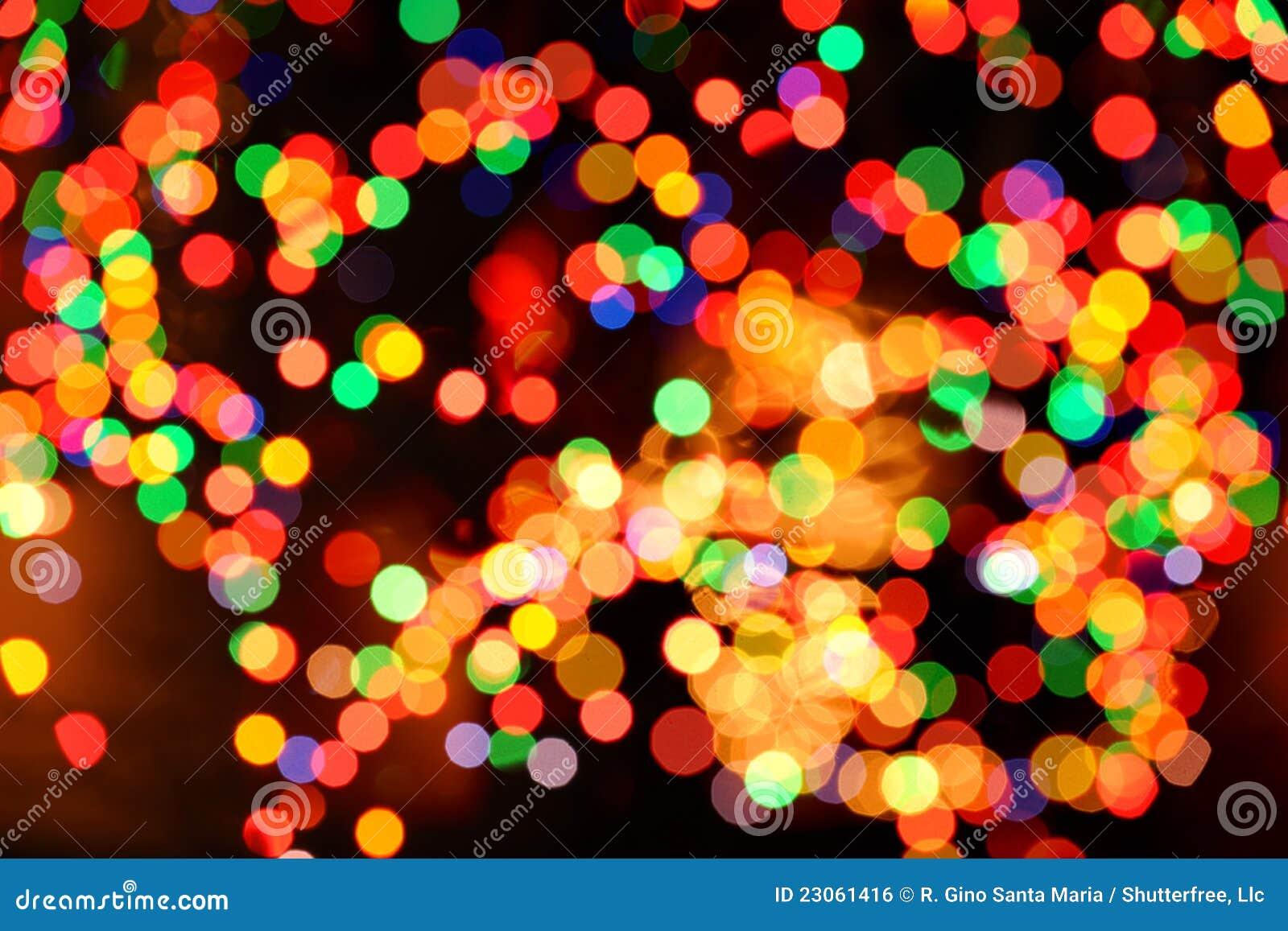 Fondo abstracto de las luces de la Navidad