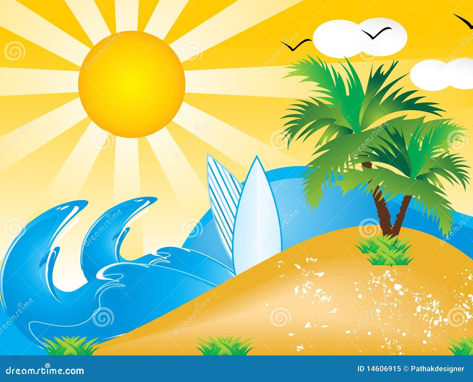 Fondo abstracto de las vacaciones de verano del vector ilustraci n del vector imagen 14606915 - Fondos de escritorio verano ...
