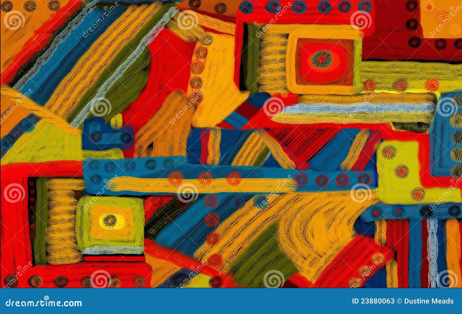 Fondo abstracto del arte del color de Digitaces