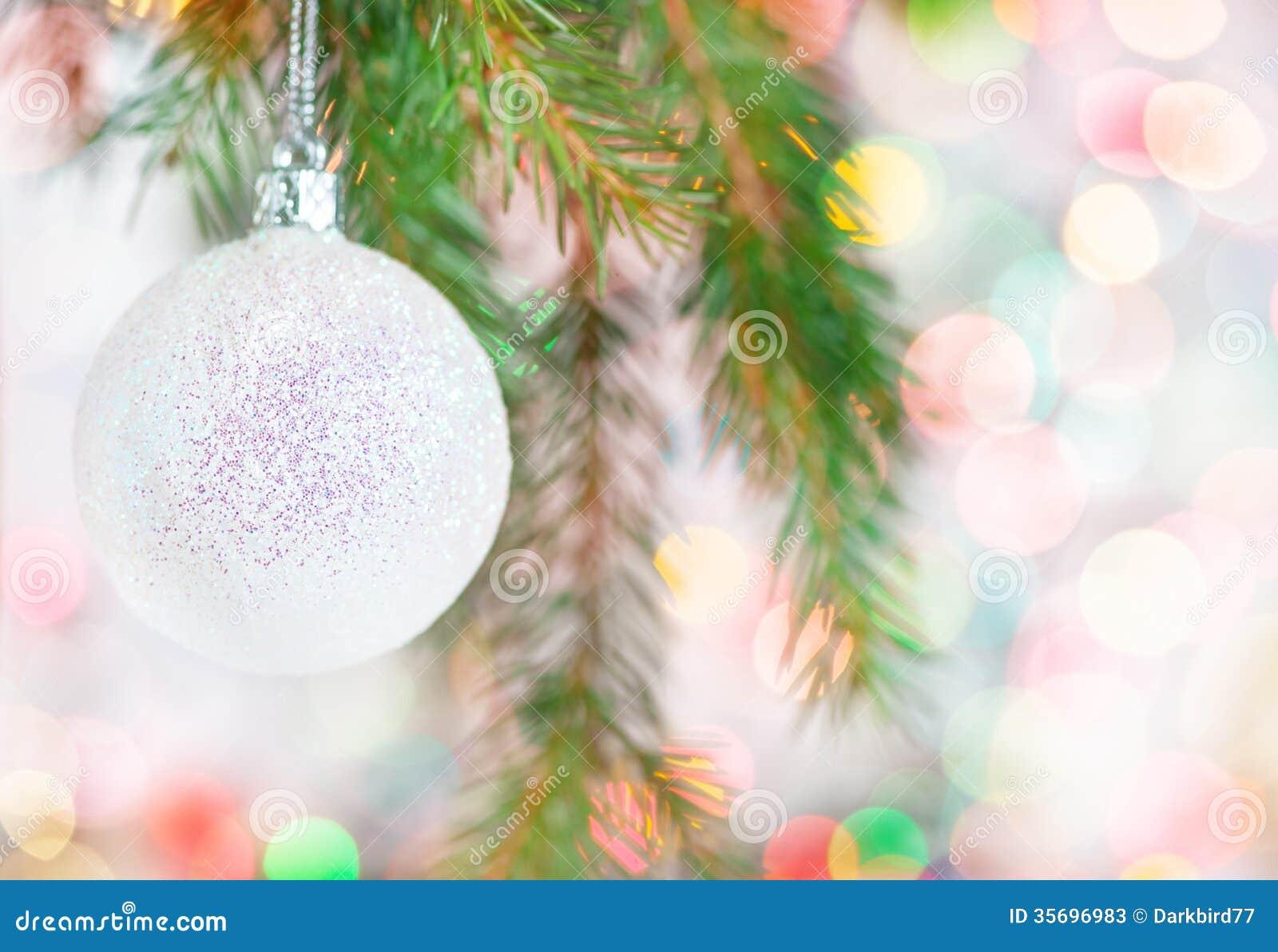 Fondo abstracto del bokeh con la bola de la navidad fotos - Bola de navidad con foto ...