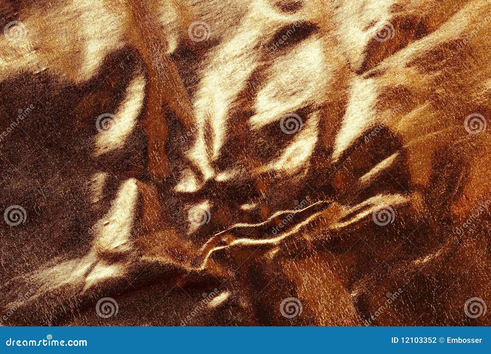 Fondo abstracto del brocado del oro