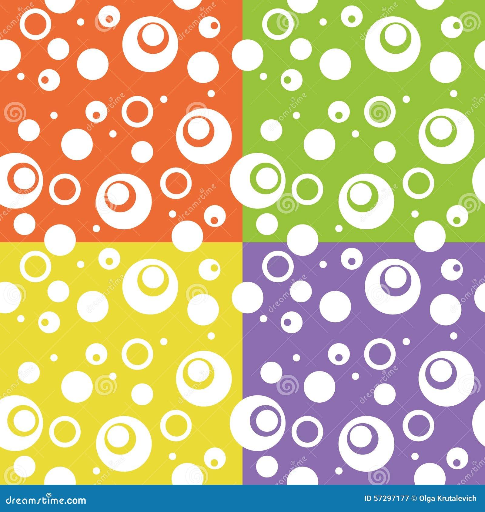 Fondo abstracto del círculo de la diversión del color