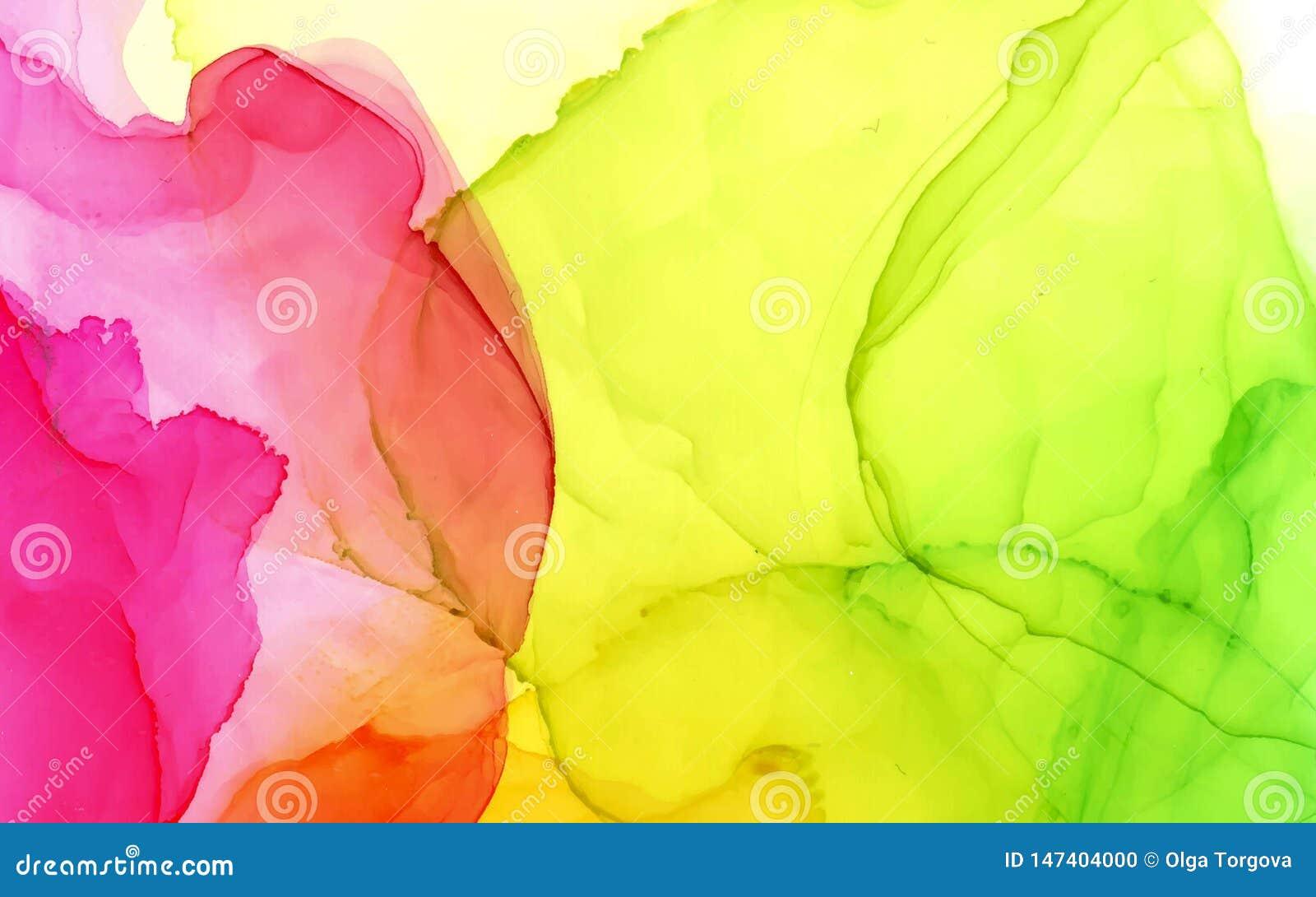 Fondo abstracto del color brillante del vector de la tinta del alcohol