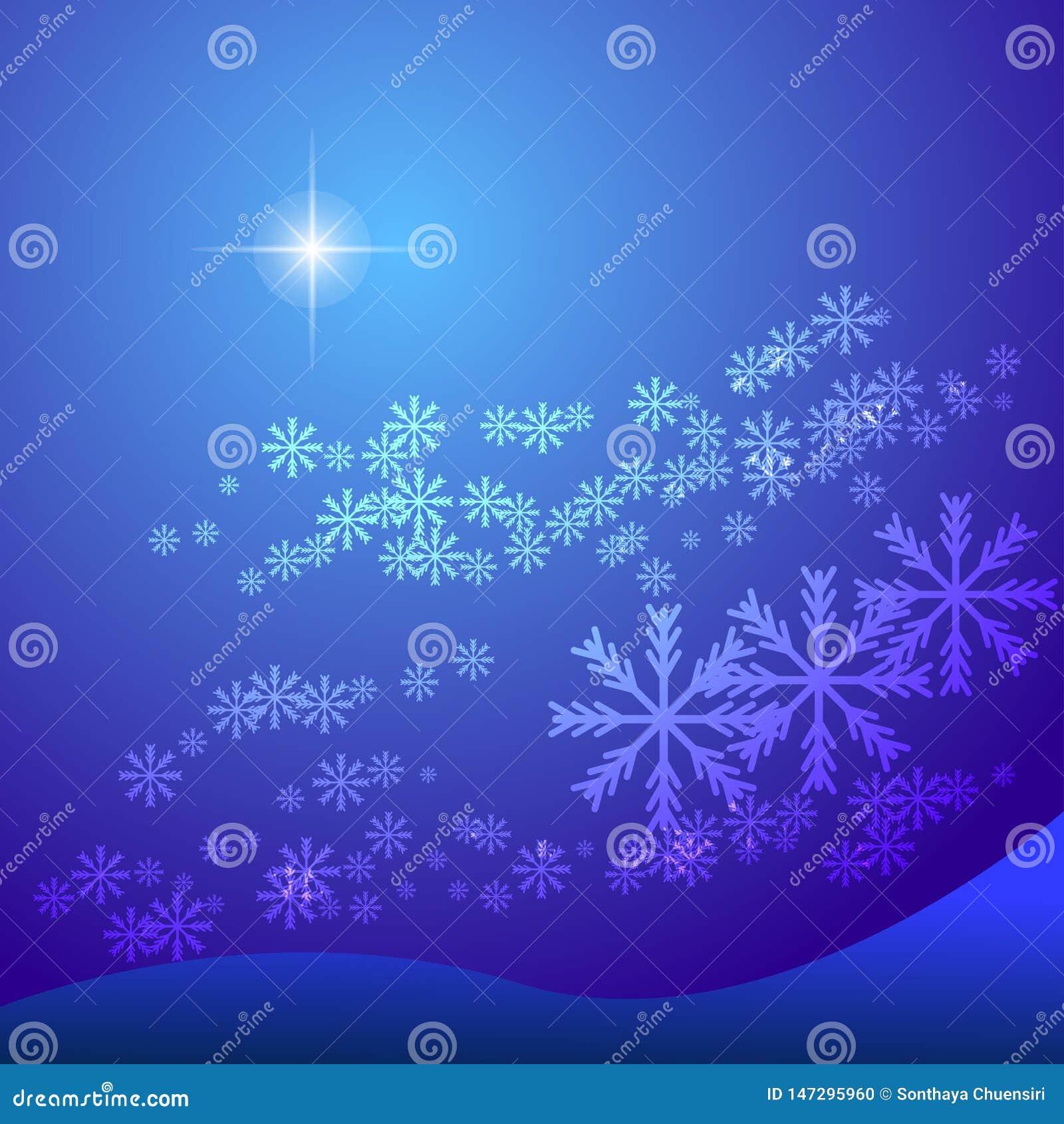 Fondo abstracto del copo de nieve