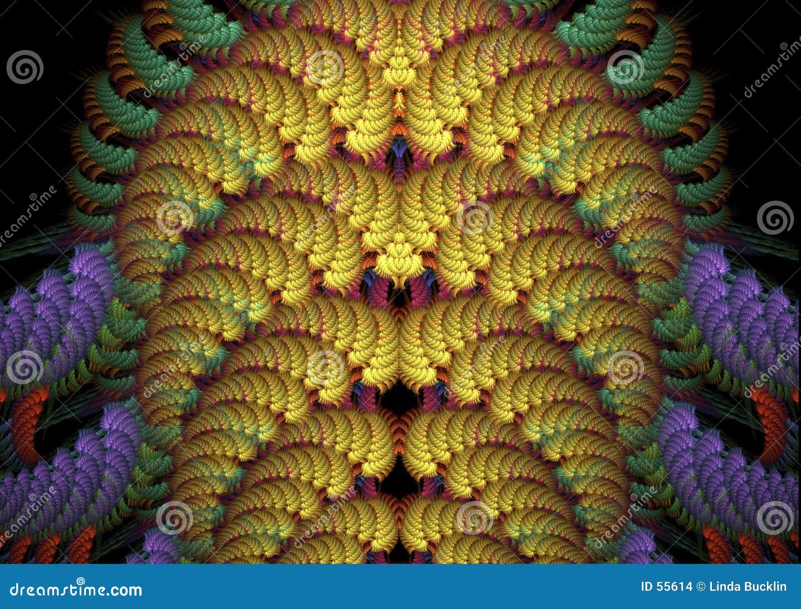 Fondo abstracto del fractal