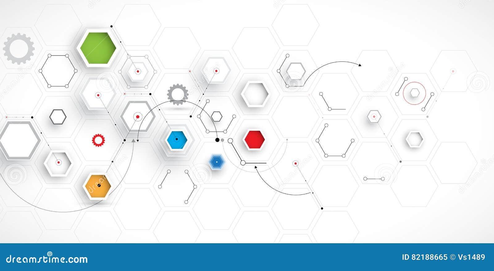Fondo abstracto del hexágono Diseño poligonal de la tecnología
