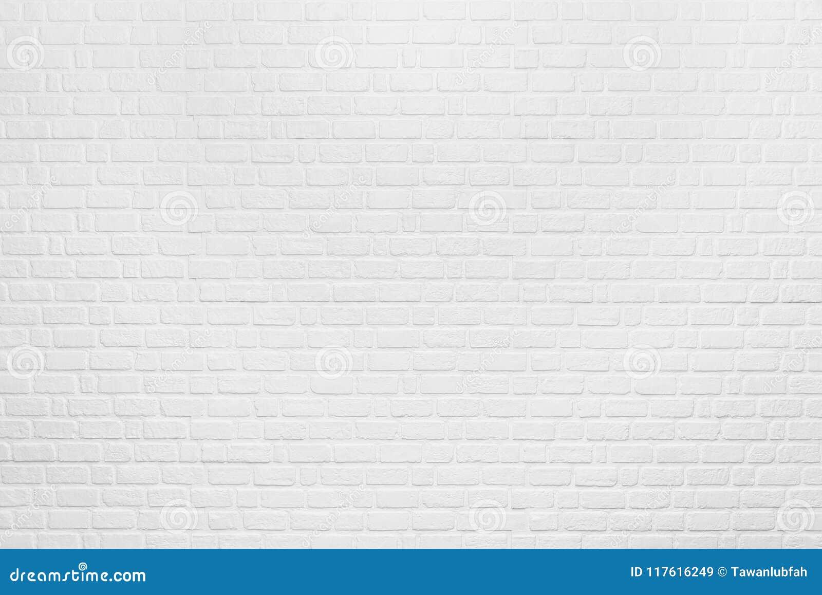 Fondo abstracto del modelo limpio blanco del ladrillo en la pared Vint