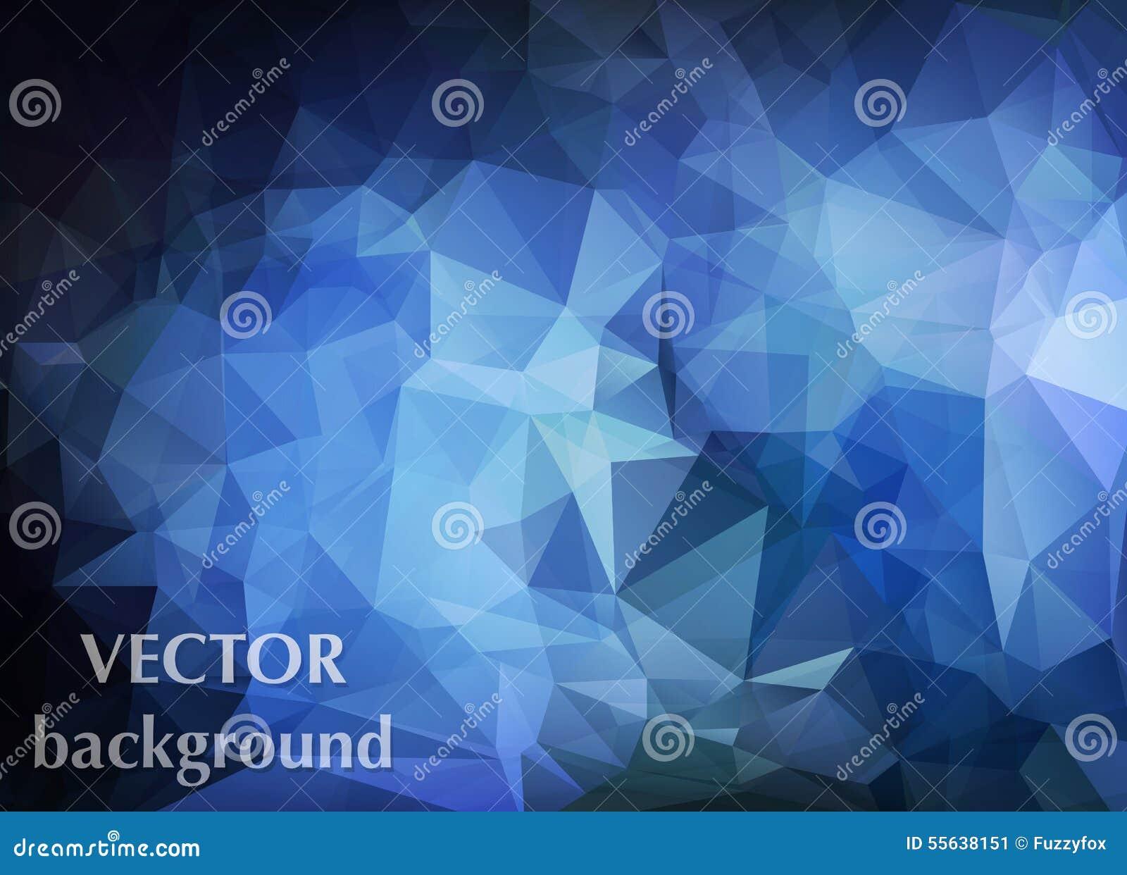 Fondo abstracto del vector del papel pintado del polígono de los triángulos Web d