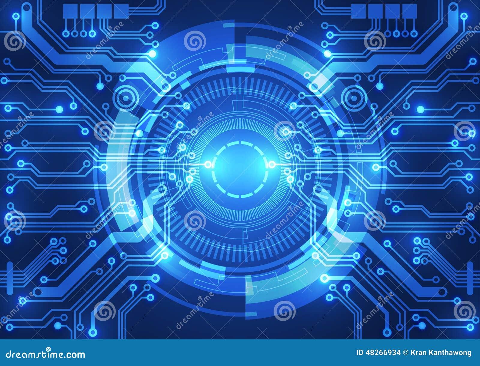 Fondo abstracto del vector Estilo futurista de la tecnología