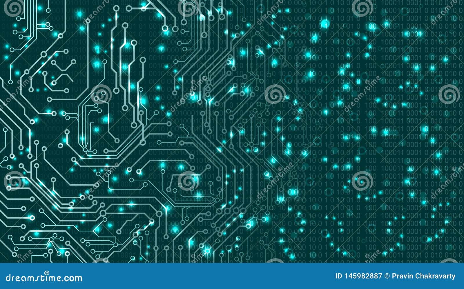 Fondo abstracto del vector Estilo futurista de la tecnolog?a