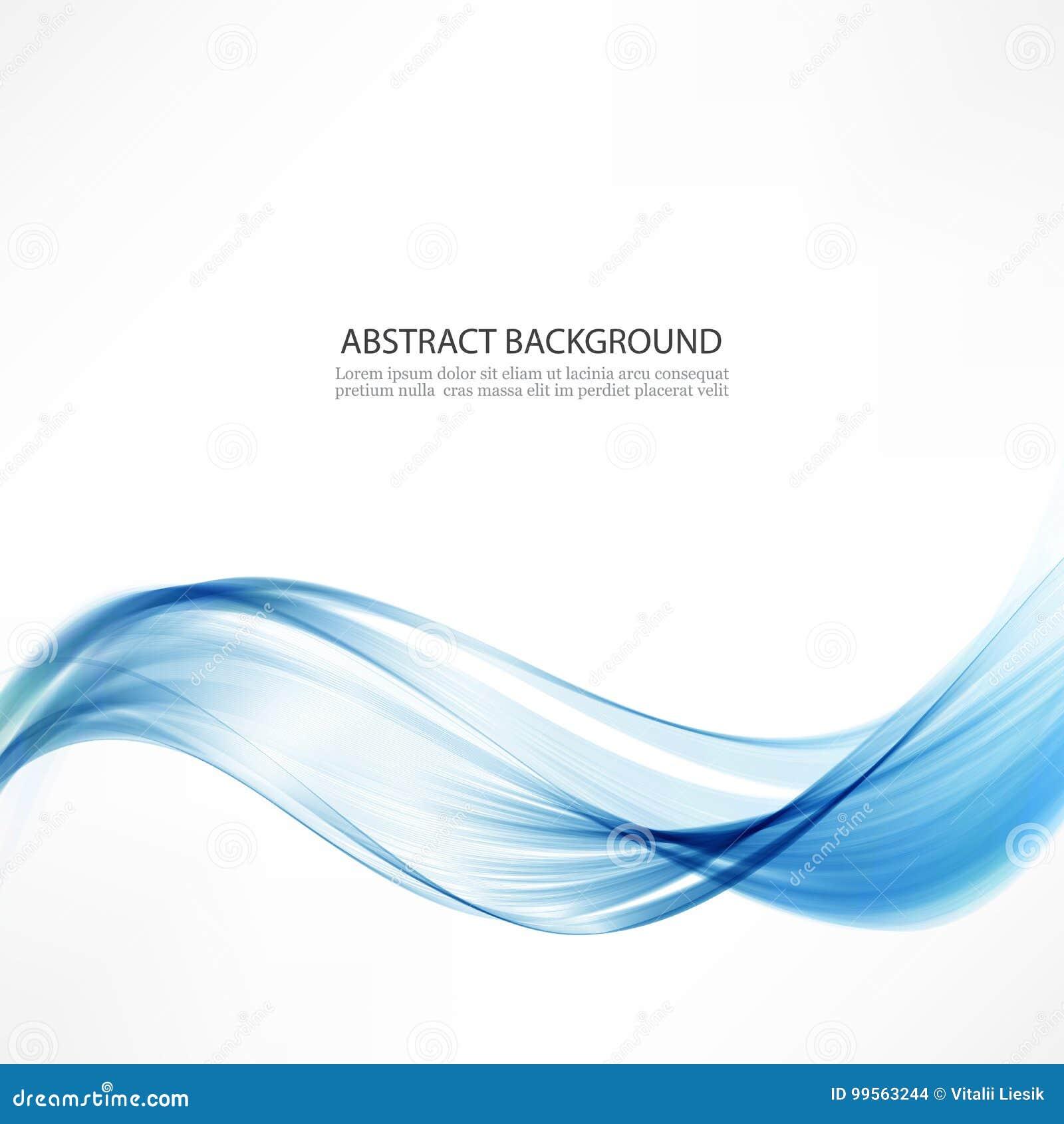 Fondo abstracto del vector Ondas y una línea azul