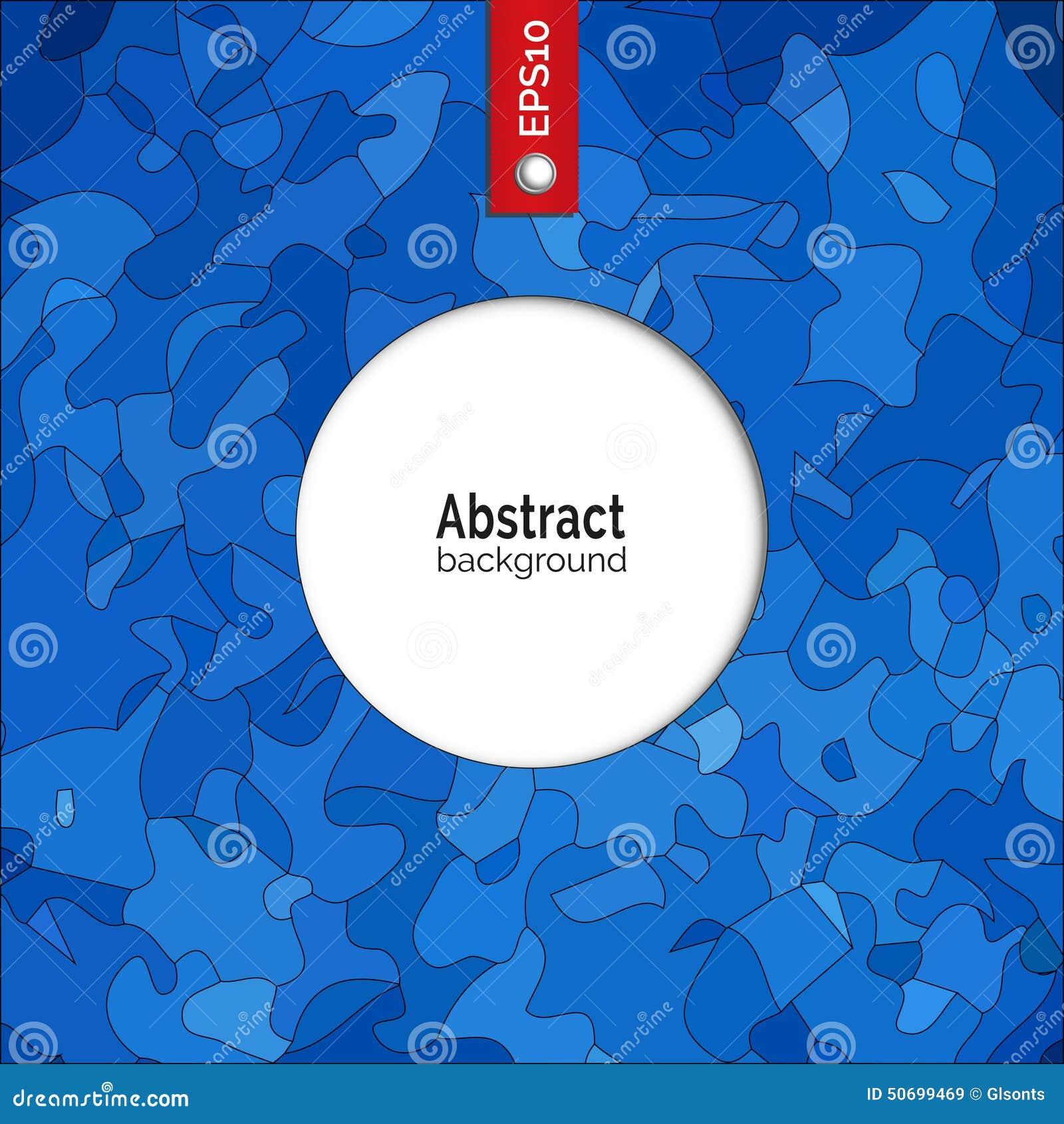 Fondo abstracto del vector Plantilla para la identidad corporativa, publicidad, cartel, evento en color azul